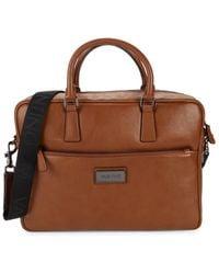 Valentino By Mario Valentino Adam Leather Briefcase - Brown