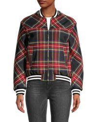 Maje - Women's Blouson Jacket - Black Red - Size 40 (l) - Lyst