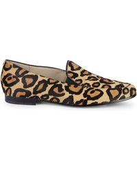 Sam Edelman Lanti Leopard-print Calf Hair Loafers - Natural