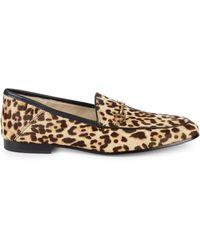 Sam Edelman Lorraine Leopard Print Calf Hair Loafers - Multicolour