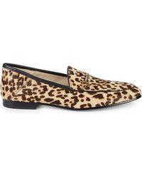 Sam Edelman Lorraine Leopard Print Calf Hair Loafers - Multicolor