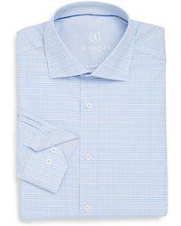 Bugatchi - Shaped-fit Plaid Cotton Dress Shirt - Lyst