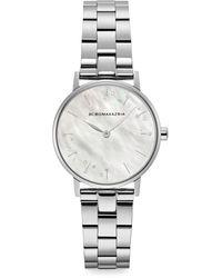 BCBGMAXAZRIA Classic Mother-of-pearl & Stainless Steel Bracelet Watch - Metallic