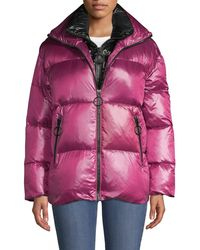 The Very Warm Double Collar Down Puffer - Pink