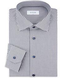 Eton of Sweden Slim-fit Chequered Dress Shirt - Blue