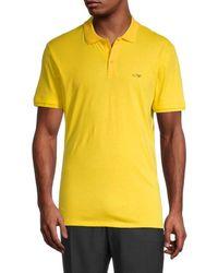 Armani Jeans Logo Polo - Yellow