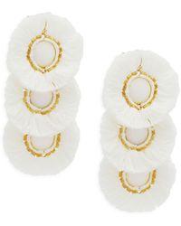 Panacea Fringe Drop Earrings - Metallic