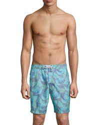 Trunks Surf & Swim Men's Cuts Swami Swim Trunks - Laguna Beach - Size L - Blue