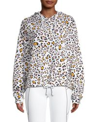 Kensie Women's Leopard-print Hoodie - Size L - Multicolour