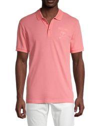 Moschino ! Logo Cotton-blend Polo - Pink