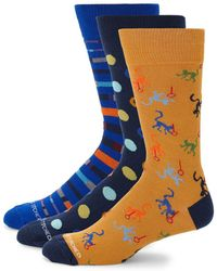 Unsimply Stitched - Mixed Print Mid-calf Socks/ Pack Of 3 - Lyst