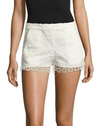 French Connection - Castaway Stripe Lace Shorts - Lyst