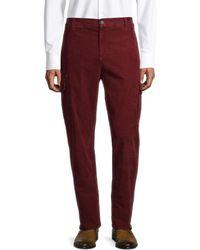 Brunello Cucinelli Men's Corduroy Cargo Trousers - Burgundy - Size 46 (28 - Red