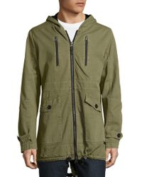 Civil Society - Castro Solid Cotton Zipper Jacket - Lyst