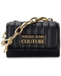 Versace Jeans Couture Logo Chain Top Handle Mini Bag - Black