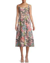 Parker Aimee Leaf-print Dress - Multicolour