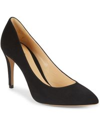 Armani - Suede Point-toe Pumps - Lyst