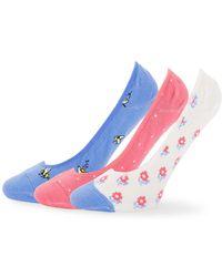 Kate Spade - 3-pack Printed Liner Socks - Lyst