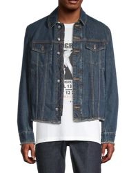 Zadig & Voltaire Faux Shearling-lined Denim Jacket - Blue
