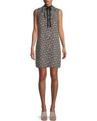 Cece Mayfair Ditsy Floral A-line Dress - Black
