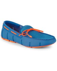 Swims Braided Lace-up Loafers - Blue