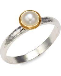 Gurhan Sterling Silver Pendant Ring - Metallic