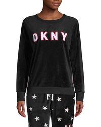 DKNY Graphic Crewneck Sweatshirt - Black