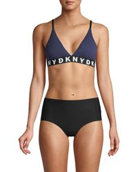 DKNY Logo Sports Bra - Blue
