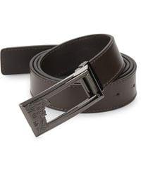 Versace Logo Leather Belt - Brown