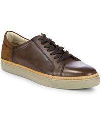 Kenneth Cole - Premier Leather Low-top Trainers - Lyst