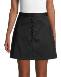 RED Valentino Women's Virgin Wool A-line Mini Skirt - Nero - Size 44 (12) - Black