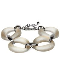 Alexis Bittar Women's Lucite Organic Link Soft Bracelet - Metallic
