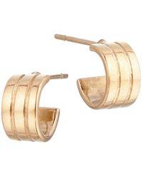 Lana Jewelry Triple 14k Yellow Gold Huggie Earrings - Metallic