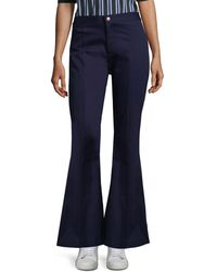 Maggie Marilyn She's A Dreamer Flared Trousers - Blue