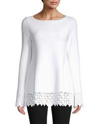 Alaïa Diamond Cutout Tunic - White