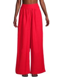 BCBGMAXAZRIA Women's Riley High-waisted Wide-leg Pant - Black - Size L