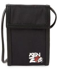 KENZO Graphic Crossbody Bag - Black