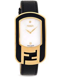 Fendi - Leather, Goldtone Stainless Steel & Mother-of-pearl Fashion Watch - Lyst