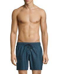 Slate & Stone - Patterned Swim Shorts - Lyst