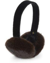 Surell Mink Fur Earmuffs - Black