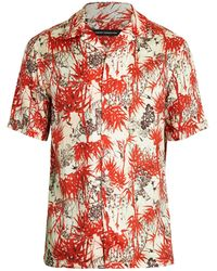 French Connection Dione Short-sleeve Shirt - Red