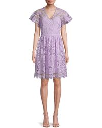Shoshanna - Floral Lace Fit-&-flare Dress - Lyst