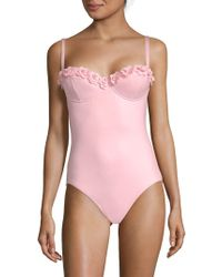Kate Spade - Floral Underwire Maillot - Lyst
