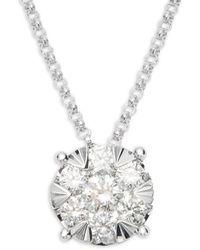 Effy 14k White Gold & Diamond Pendant Necklace - Multicolour