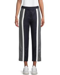 KENZO Striped Cropped Trousers - Blue