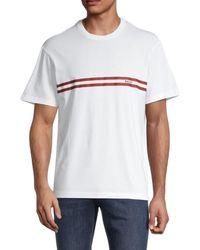 Bally Men's Logo Stripe T-shirt - Bone - Size S - White