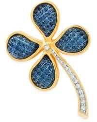 Kenneth Jay Lane Women's 22k Goldplated & Glass Flower Brooch - Yellow