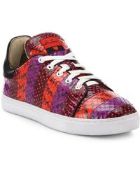 Isa Tapia - Round Toe Lace-up Leather Trainers - Lyst