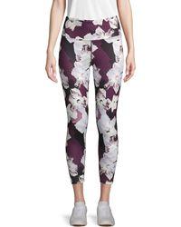 Nanette Lepore Moody Floral Cropped Leggings - Multicolour
