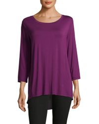 NYDJ - Layered Back Hi-lo Top - Lyst